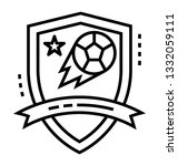 football league line icon  | Shutterstock .eps vector #1332059111