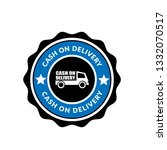 cash on delivery sticker label... | Shutterstock .eps vector #1332070517