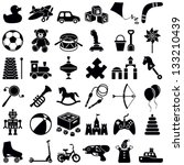 toys icon collection   vector... | Shutterstock .eps vector #133210439