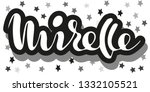mirelle woman's name stars... | Shutterstock .eps vector #1332105521