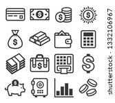 money icon set on white...   Shutterstock .eps vector #1332106967