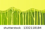 paper layer cut of green nature ... | Shutterstock .eps vector #1332118184
