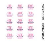 thank you followers vector text ... | Shutterstock .eps vector #1332125357