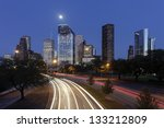 Houston Skyline At Night With...
