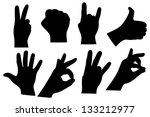 hand sign collection | Shutterstock .eps vector #133212977