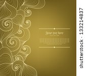 banner with abstract hand drawn ...   Shutterstock .eps vector #133214837
