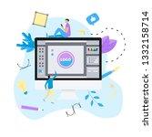 flat vector graphic design... | Shutterstock .eps vector #1332158714