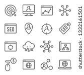 seo technology line icon set.... | Shutterstock .eps vector #1332161501