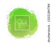 elegant colorful splash... | Shutterstock .eps vector #1332184784