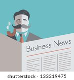 old school businessman with a... | Shutterstock . vector #133219475