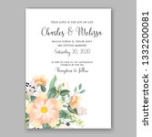 wedding invitation or card... | Shutterstock .eps vector #1332200081