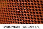 orange net nylon fabric texture ... | Shutterstock . vector #1332206471