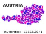 mosaic austria map isolated on... | Shutterstock .eps vector #1332210341