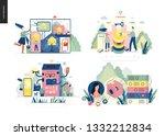technology 1 set   modern flat... | Shutterstock .eps vector #1332212834
