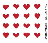 heart icons set isolated on... | Shutterstock .eps vector #1332215717