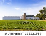 American Countryside Farm With...