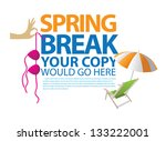 spring break template. eps 8... | Shutterstock .eps vector #133222001