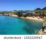 playa forti beach on cura ao | Shutterstock . vector #1332220967