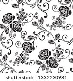 floral pattern in the small... | Shutterstock .eps vector #1332230981
