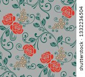 floral pattern in the small... | Shutterstock .eps vector #1332236504