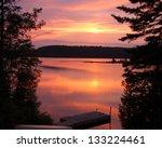 Cottage Landscape  Sunset
