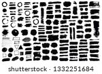 brush strokes bundle. vector... | Shutterstock .eps vector #1332251684