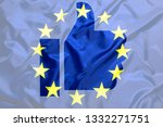 like european union symbol with ... | Shutterstock . vector #1332271751