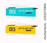 mega sale banner   Shutterstock .eps vector #1332272804