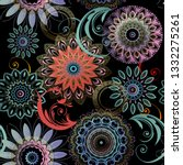 floral seamless mandalas... | Shutterstock .eps vector #1332275261