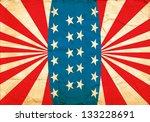 american poster. a grunge... | Shutterstock . vector #133228691