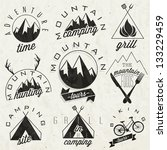 retro vintage style symbols for ... | Shutterstock .eps vector #133229459
