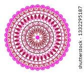 beautiful indian ornament ...   Shutterstock .eps vector #1332295187
