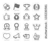 hand drawn award icon set | Shutterstock .eps vector #133230581