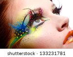 gorgeous young model beautiful... | Shutterstock . vector #133231781