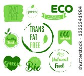 healthy food icons  labels.... | Shutterstock .eps vector #1332341984