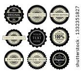 vintage badges set. collection... | Shutterstock .eps vector #1332351827
