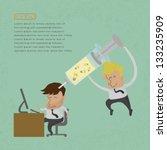 businessman make idea   eps10... | Shutterstock .eps vector #133235909