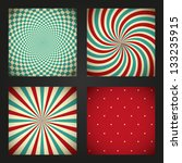 set of retro abstract... | Shutterstock .eps vector #133235915