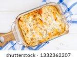 salmon in creamy dill sauce....   Shutterstock . vector #1332362207