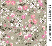 delicate floral seamless... | Shutterstock .eps vector #133236431