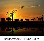 african wild animals...   Shutterstock . vector #133236875