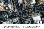 aerial view of new york... | Shutterstock . vector #1332370244