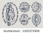 set of vintage marine... | Shutterstock .eps vector #1332373304