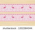 seamless flamingo bird pattern   Shutterstock . vector #1332384344