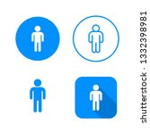user icon  four variants ... | Shutterstock .eps vector #1332398981