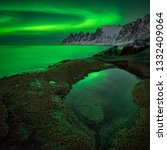 Aurora Over Tugeneset Rocky Coast - Fine Art prints