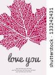 Maple Leaf Love Greeting Card