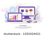 seo analitics concept. programs ... | Shutterstock .eps vector #1332424421