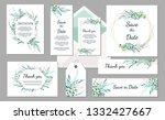 set wedding invitation vintage... | Shutterstock .eps vector #1332427667