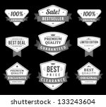 vintage labels and ribbons set. ... | Shutterstock .eps vector #133243604
